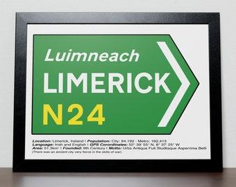 Irish Road signs - LIMERICK
