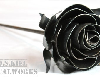 Stylized Metal Rose, 11th Anniversary, 6th Anniversary, 4th Anniversary, Metal Flower, Steel Rose, Steel Flower, Forever Rose