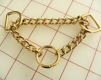 Solid Brass Martingale 6 Inch Chain Assembly for Dog Collar 2mm