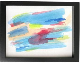 Take a Dip Framed Original Watercolor