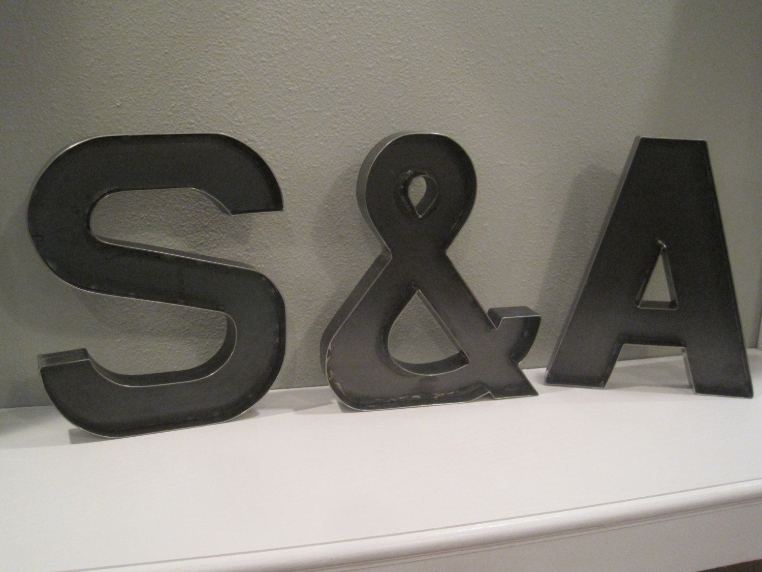 Standing Metal Letters 12 Metal Letters And A Ampersand For Bride Groom