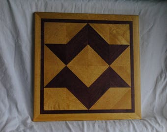 Empire Crown Wood Quilt Block