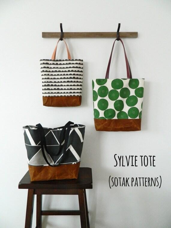 Sylvie Tote, pdf bag pattern, pdf pattern, tote bag, instant ...