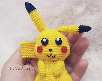 Crochet Chibi Pikachu Amigurumi / Pikachu Mini / Pikachu Pokemon / Crochet Pikachu Pokemon Tiny / Pikachu Plush/ Amigurumi Pokemon