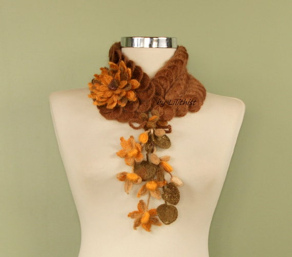 Gehäkelter Schal Blume häkeln Schal Infinity häkeln Schal
