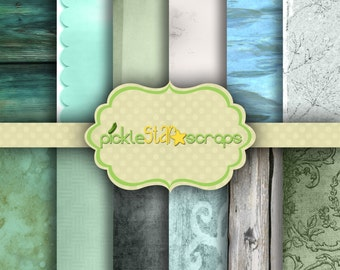 To the Sea Vol1 Digital Paper Printable Background Craft Paper Ocean Background Sea Paper Water Background 12x12 Paper INSTANT DOWNLOAD