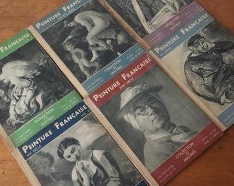 Set of Six Peinture Française. 1940s