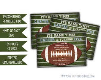 Printable Football Invitations - kickoff Football Invites - Football Birthday Party invitation Sports - All Star - Adult - Kid - Teen - Boy