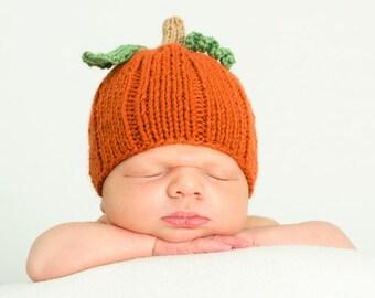 Pumpkin baby, boy, girl, newborn, preemie, hat