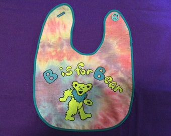 Grateful Dead Baby Bib Dancing Bear