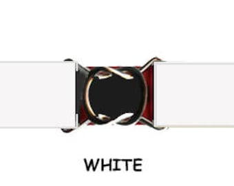 "STRETCH BELT - WHITE 1"" Elastic * 3-Sizes for Kids & Adults *  Adjustable on Both Sides"