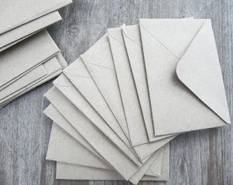30 small envelopes Kraft to slide cards, Word
