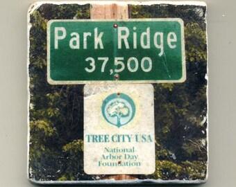 Park Ridge Population Sign - Original Coaster