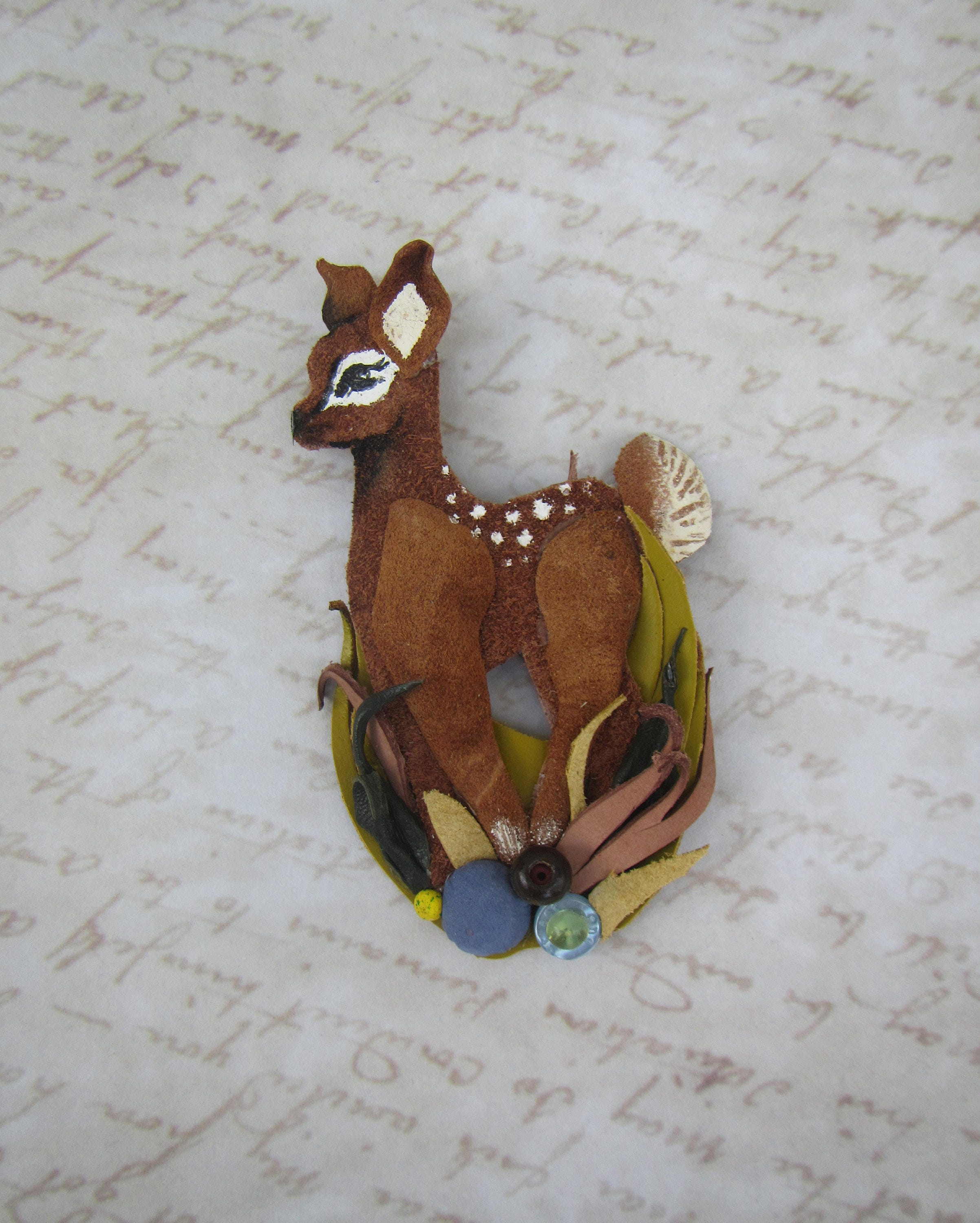 pave deer vintage gazelle products img brooch designer pin swarovski crystal stones goldtone animal