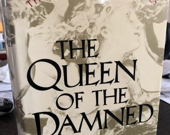 """Is your name Jeff?  Autographed Anne Rice """"The Queen of the Damned"""" Book"""