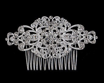Bridal Hair Comb, Wedding Hair Accessory, Rhinestone Hair Comb, Crystal Vintage Style Hair Comb, Rhinestone Bridal Victorian Style Hair Comb