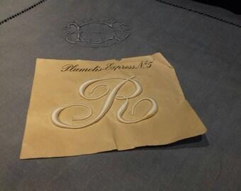 Vintage French monogram Letter R