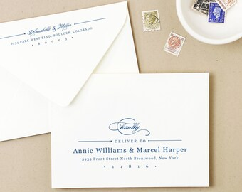 Printable Wedding Envelope Template | INSTANT DOWNLOAD | Elegant | Calligraphy Alternative | for Word or Pages Mac & PC