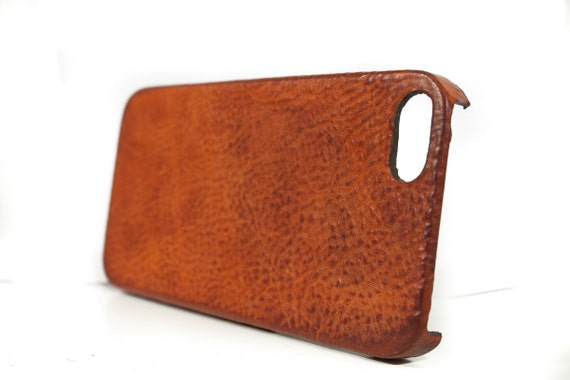 Leather iPhone Case made by Washed leather for iPhone SE 5S 5C 4S to use as protection