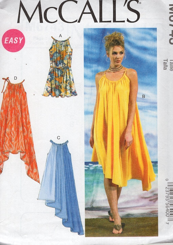 McCall\'s 6743 Free Us Ship Sewing Pattern Loose Fitting Trapeze ...