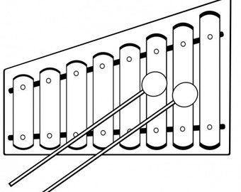 Xylophone Die-Cut Decal Car Window Wall Bumper Phone Laptop