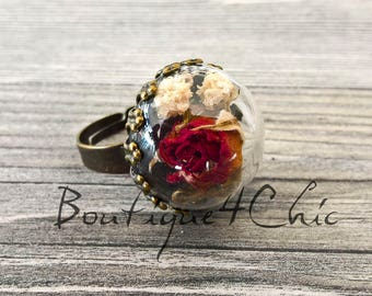 Rose ring, Real rose ring, baby's breath