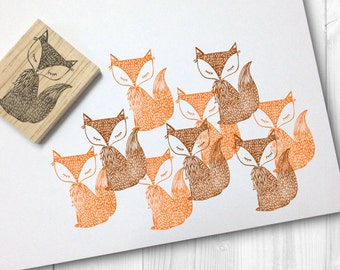 fox rubber stamp - FREE SHIPPING WORLDWIDE*
