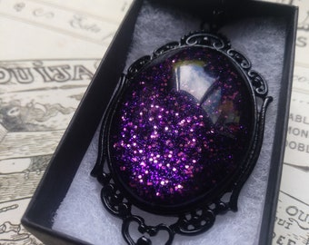 Dark Fairy Gothic Necklace - Black gift box included