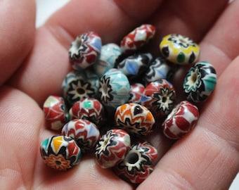 Nepal glass chevron beads