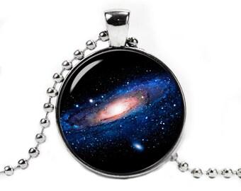 Andromeda Nebula Necklace Pendant Space Necklace Nebula Jewelry Galaxy necklace