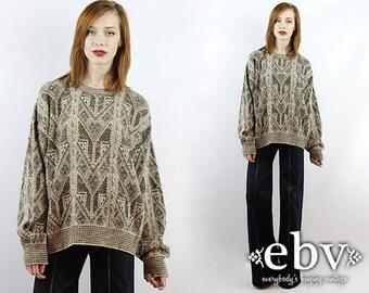 Southwestern Sweater Vintage Sweater Oversized Pullover Oversized Jumper Vintage Knit Oversized Knit Oversized Sweater Men's Sweater
