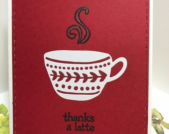 Coffee themed Thank you cards (pick)