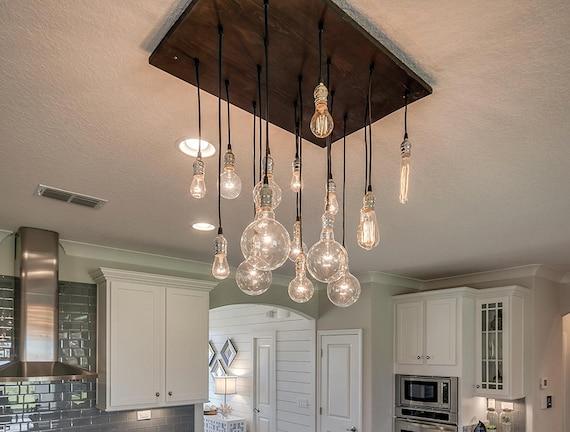 amusing kitchen chandelier lighting | 18 Pendant Industrial Chandelier Dining Room Light Kitchen