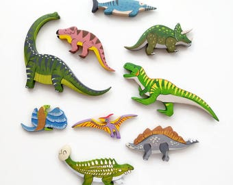 Dinosaurs set (9pcs) Dinosaur toys Prehistoric Jurassic world toys Dinosaurs playset Dinosaur world Toddler toy Dinosaurs for kids