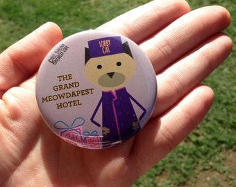 The Grand Budapest Hotel. pinback button 2.16 in