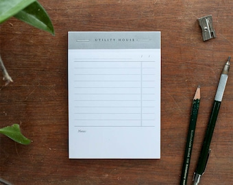To Do List Notepad with Notes | Modern Vintage Inspired Stationery