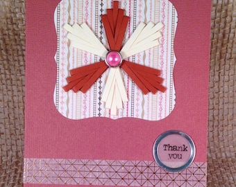 Thank You Paper Quilled Card