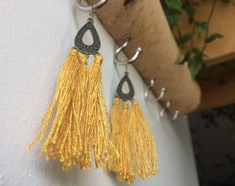 Golden Tassel Earrings