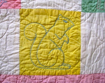 Handmade Vintage Antique Baby Quilt