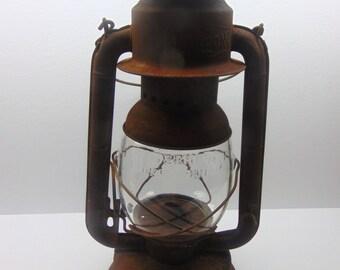 Vintage Railroad  Lantern Beacon Wind Proof Lantern Oil Kerosene Lamp