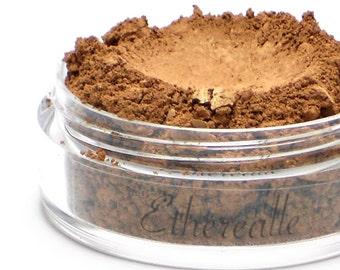 "Mineral Blush - ""Amber Moth"", Rich bronzed amber with a golden sheen (vegan)"
