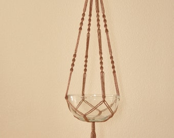 """Hand Crafted Macrame Plant Hanger- Pottery 42""""-45"""" (Available in all colors)"""