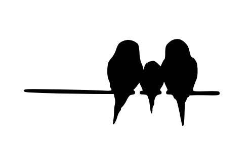 Pack Of 3 Birds On Wire 3 Birds Stencils Made From 4 Ply