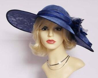 Authentic vintage classic hat, races, church, Ascot hat, wedding hat.