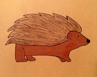 Brown Hedgehog Moleskine Cahier Notebook