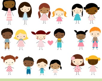 cute kid faces clipart set children clipart head kawaii boy rh etsy com  child clipart images