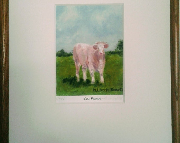 """Free Ship: """"Cow Pasture"""" Framed Giclee Print Offered by Artist"""