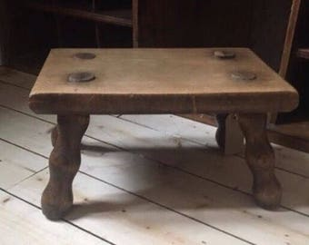 NOW SOLD!!!   Vintage French Milking Stool