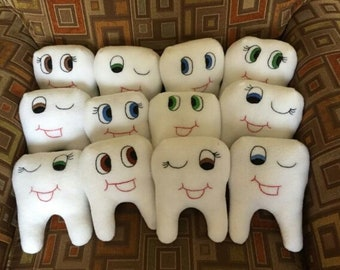 Toothy Grins Tooth Fairy Pillows