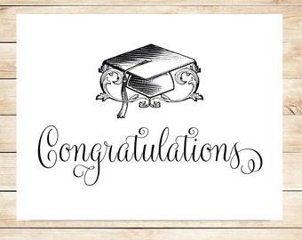 Printable Graduation Card - Instant Download Graduation Card